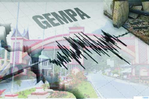 Ilustrasi kekuatan gempa pada alat pendeteksi. JNC