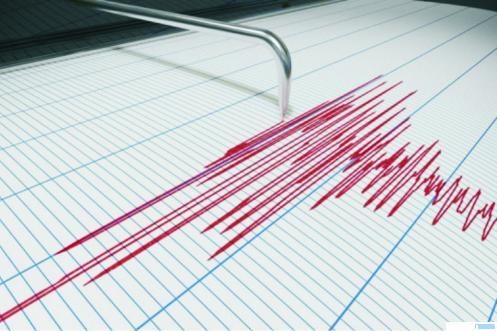Ilustrasi pantauan gempa yang terbaca pada alat pemantau gempa BMKG. NET