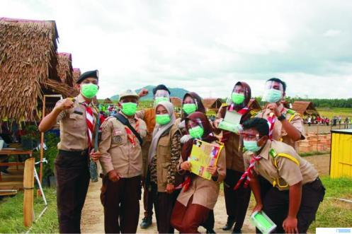 Kegiatan Pramuka pada HUT Kabupaten Dharmasraya di Piruko Kecamatan Sitiung beberapa waktu lalu. KWARCAB