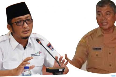 Walikota Padang Hendri Septa (kiri) dan Amasrul Sekda Kota Padang yang dinonaktifkan mulai Selasa (03/08/2021). NET/JNC