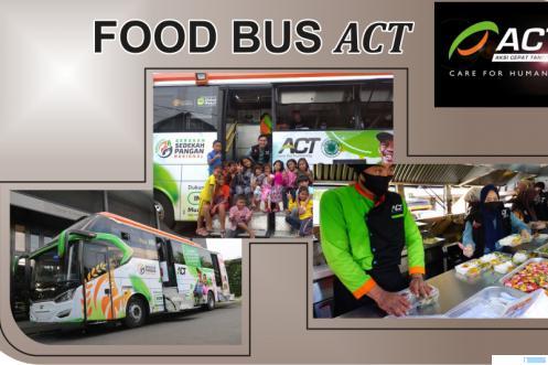 Food Bus ACT yang akan singgah di Payakumbuh selama empat hari mulai 11 s/d 14 Oktober 2021 untuk mendistribusikan nutrisi bergizi secara gratis kepada masyarakat yang membutuhkan. IST/JNC