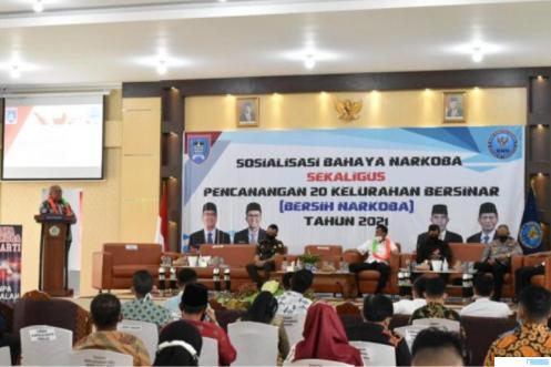 Pencanangan 20 Keluarahan Bersih Narkoba (Bersinar) di Kota Payakumbuh. HUMAS