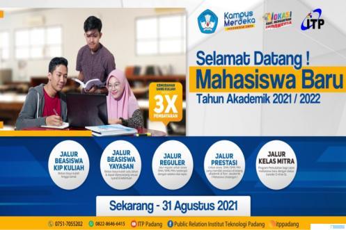 ITP Terima Mahasiswa Baru 2021, Ini Jadwal dan Syaratnya
