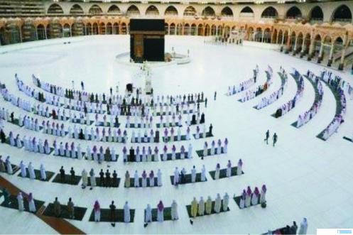 Suasana Masjidil Haram, Mekkah, Saudi Arabia, pasca mulai dilonggarkannya lockdown di negara tersebut. NET