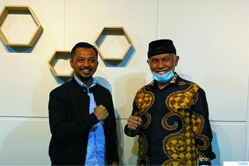 Mahyeldi dan Joni Hendri saat bersilaturahmi di Payakumbuh, Sabtu (03/10/2020). IST