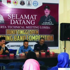Tekhnikal Meeting kejuaraan Marching Band Bukittinggi, Sabtu (29/02/2020). JON