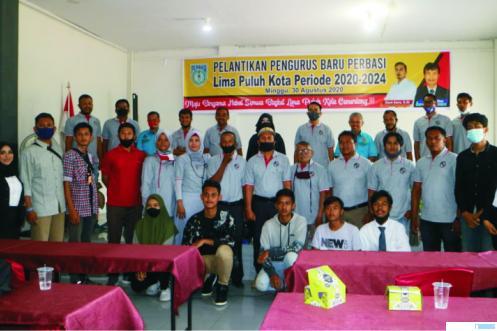 Prosesi pelantikan Pengurus Perbasi Kabupaten Limapuluh Kota dengan Ketua Umum, Deni Asra, Minggu (30/08/2020). SYN