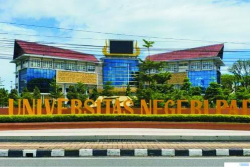 Rektorat Universitas Negeri Padang (UNP) di Jl. Hamka, kawasan Air Tawar Barat, Padang. NET