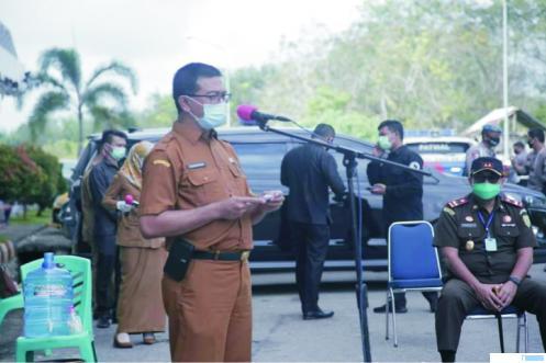 Kepala Dinas Kesehatan Dharmasraya, dr Rahmadian S, yang juga juru bicara penanganan Covid-19 Dharmasraya. IST