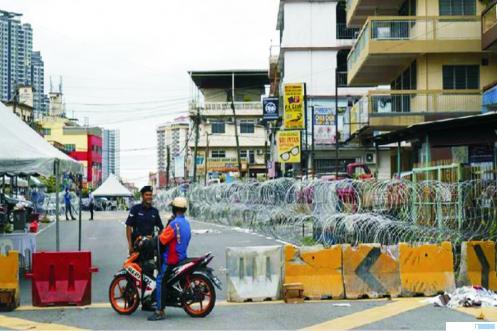 Ilustrasi suasana lockdown di Malaysia.
