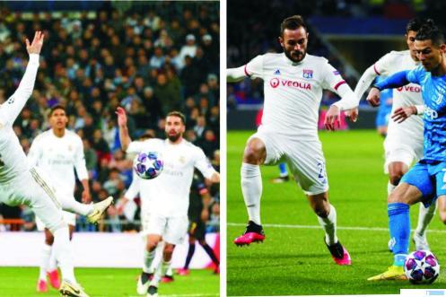 Laga putaran pertama 16 besar Liga Champions antara  Lyon Vs Juventus dan Real Madrid Vs Manchester City, Kamis (27-02-2020) dinihari WiB. Madrid dan Juve mengalami kekalahan. NET
