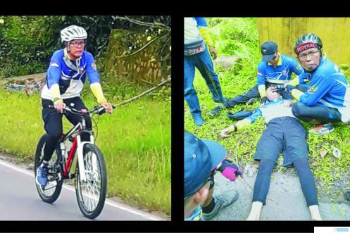 Mantan Sekda Kota Payakumbuh Mahmuda Rivai yang meninggal setelah dalam perjalanan dalam gowes ke Kelok Sembilan, Selasa (17/11/2020). NITA