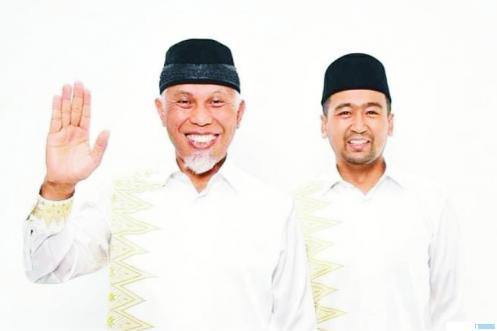 Pasangan Cagub-Cawagub Sumbar, Mahyeldi-Audy Joinaldy. Pasangan ini adalah yang termuda di antara 4 pasangan kandidat Cagub-Cawagub Sumbar. NET