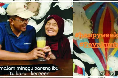 Wakil Walikota Payakumbuh, H. Erwin Yunaz, SE, MM bersama Ibunda tercinta, Sabtu (26/09/2020) malam di Kota Payakumbuh. IST
