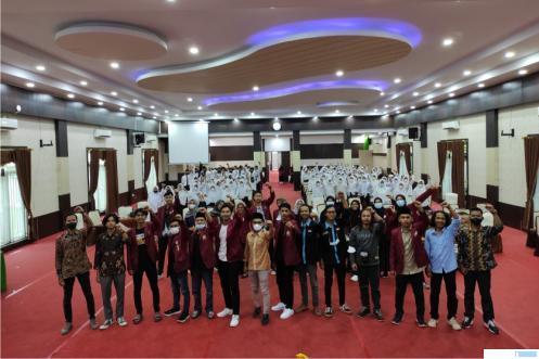 Masa Ta'aruf atau orientasi mahasiswa baru Fakultas Ekonomi Universitas Muhammadiyah Sumatera Barat (FE UM Sumbar), Sabtu (09/10/2021) di Convetion Hall UM Sumbar, Padang. IST