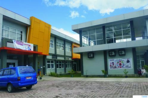 Gedung Sentra IKM Rendang Kota Payakumbuh di di Padang Sikaduduak. NITA