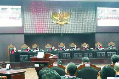 Persidangan di Mahkamah Konstitusi (MK). NET