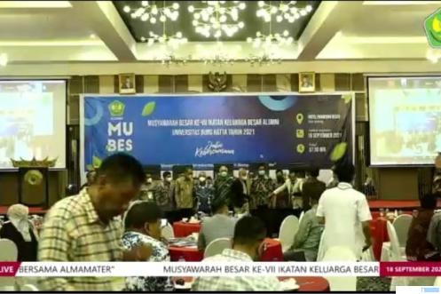 Mubes IKA Universitas Bung Hatta, 18 September 2021 di Hotel Pangeran Beach, Padang. DOK Univ. BUNG HATTA