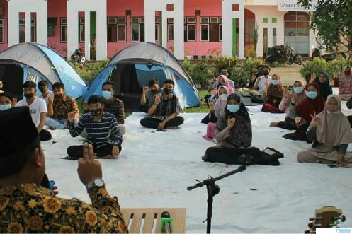 Kegiatan Ramadhan Tarbiah yang dilaksanakan organisasi kemahasiswaan (Ormawa) Kampus Undhari, 27-30 April 2021. DI
