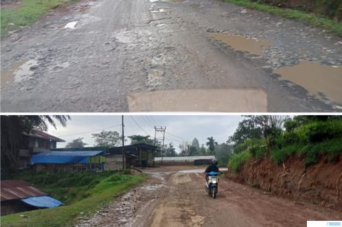 Jalan provinsi di jalur Pakan Rabaa Gadut - Pasar Halaban, Kecamatan Lareh Sago Halaban, Kabupaten Limapuluh Kota sepanjang 7 KM kondisinya rusak parah. Hal itu telah berlangsung bertahun-tahun, sejak era Gubernur Irwan Prayitno yang kini telah berganti Mahyeldi. (ERZ)