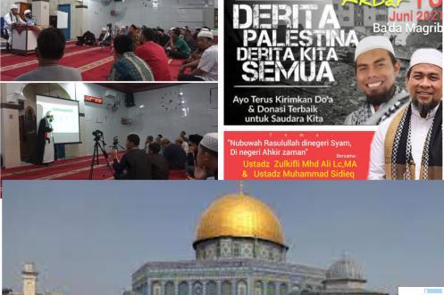 Kegiatan Tabligh Akbar Save Palestina di Masjid Taqwa, Kamis (10/06/2021) malam. ERZ/IST