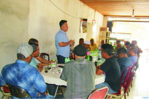 Balon Bupati dan Wakil Bupati Panji Mursyidan dan Yosrisal, bertemu tokoh masyarakat Dharmasraya. DI
