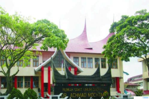 RS Ahmad Muchtar Bukittinggi yang menjadi salah rumah sakit penanganan kasus corona di Sumatera Barat. NET