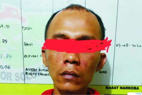 DA tersangka pemakai sabu dan ganja yang ditangkap Polresta Solok Kota. JON