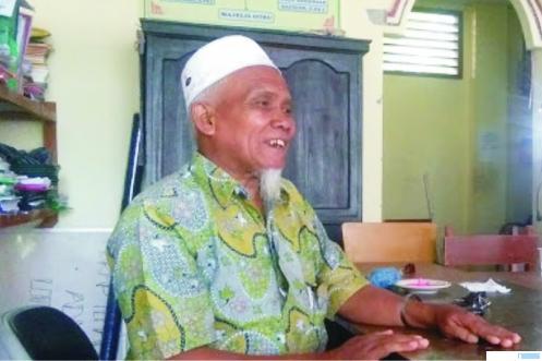 KH. Sudirman Syair, Pimpinan Ponpes Ma'arif As Sa'adiyah. NET