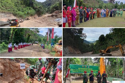 Petinggi Mabes TNI Kunjungi TMMD 50 Kota di Talang Maur