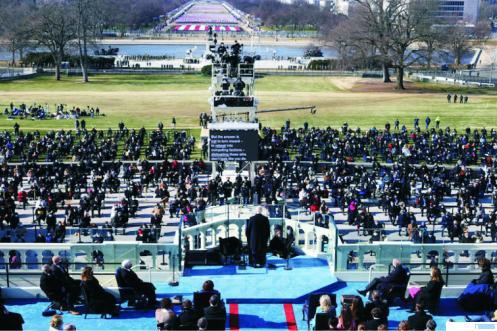 Suasana pelantikan Joe Biden sebagai Presiden AS, Kamis (21/01/2021). NET
