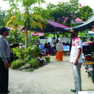 Monitoring pencoblosan Pilkada di Nagari Muaro Pingai, Kecamatan Junjung Sirih, Kabupaten Solok,  Rabu (09/12/2020). IST