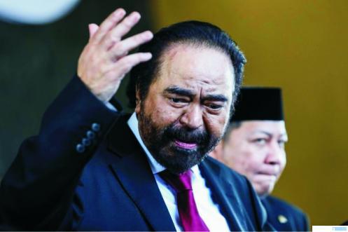 Ketua Umum DPP Partai Nasdem Surya Paloh yang positif terinfeksi virus corona. NET
