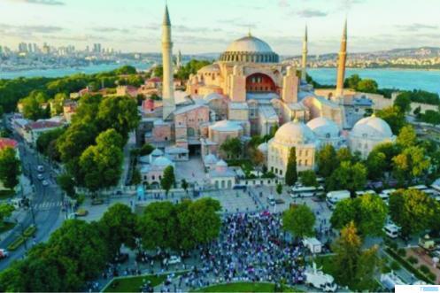 Masjid Hagia Sophia, Turki. NET