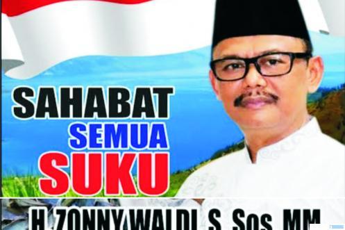 H. Zonny Waldi, perantau dari Nagari Talang Maur, Kecamatan Mungka, Kabupaten Limapuluh Kota yang terpilih menjadi Wakil Bupati Simalungun, Provinsi Sumatera Utara di Pilkada 2020. NET