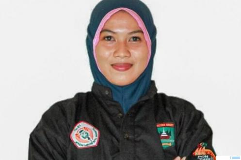 Winda Novi Yalni, atlet silat Sumbar yang berhasil menyabet medali emas PON XX Papua 2021 pada Selasa (12/10/2021). NET