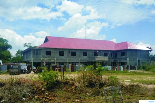 Bangunan Kantor 3 OPD Pemko Payakumbuh di kawasan Padang Kaduduk yang masih dalam pengerjaan. Proyek ini telah selesai 87 persen. NITA