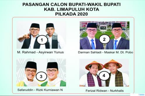 Pasangan Cabup-Cawabup Kabupaten Limapuluh Kota. JNC