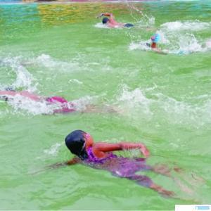 Atlet cabor renang, Dharmasraya mulai berlatih setelah PSBB berakhir. DI