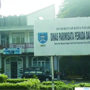 Kantor Dinas Pariwisata, Pemuda dan Olahraga Kota Payakumbuh di kawasan wisata Ngalau Indah. NET
