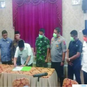 Rapat Forkopinda Kabupaten Solok usai rapat koordinasi, Jumat (27/03/2020) JON