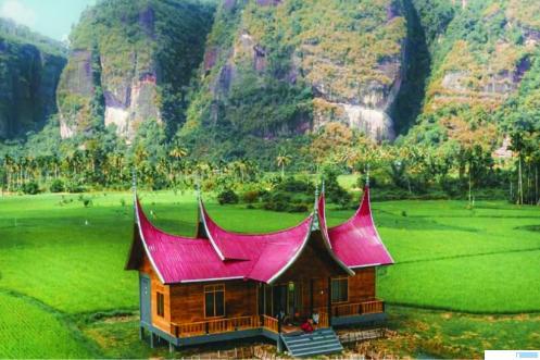 Homestay milik Nagari Harau, bantuan dari Kemendes RI. Nagari Harau sangat kaya dengan potensi pariwisata. Banyak destinasi wisata yang ada di nagari ini. Persoalan jaringan telekomunikasi  adalah masalah klasik di sebagian besar Nagari Harau. NET