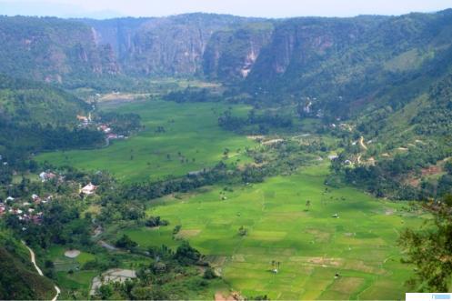Lembah Harau, Kabupaten Limapuluh Kota, Provinsi Sumatera Barat. NET
