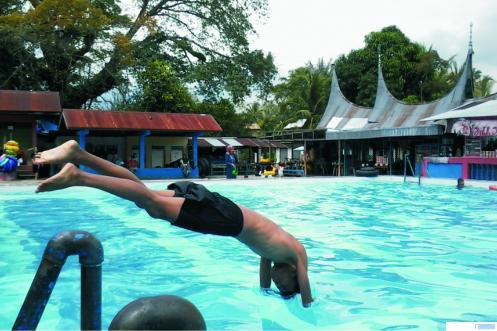 Kolam pemandian Batang Tabik di Nagari Sungai Kamuyang, Kecamatan Luhak, Kabupaten Limapuluh Kota. NET