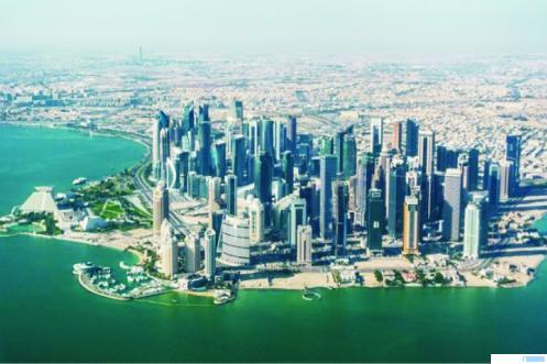 Doha Ibukota Qatar. Di negara ini, orang yang tidak pakai masker di ancaman hukuman 3 tahun penjara. Ini sebagai upaya pencegahan Covid-19 di negara islam tersebut. NET
