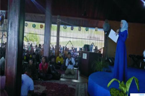 Reses anggota DPR RI Athari Gauthi Ardi di Singkarak, Solok, Sabtu (14/03/2020). JON
