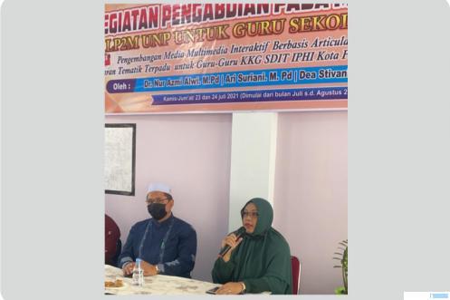 30 guru SD di Kota Payakumbuh mendapat pendampingan dari Tim Pengabdian Kepada Masyarakat (PKM) Universitas Negeri Padang tahun 2021 dalam membuat media pembelajaran berbasis  informasi dan teknologi. Kegiatan ini diinisiasi oleh Dr. Nur Azmi Alwi,M.Pd dan tim. IST