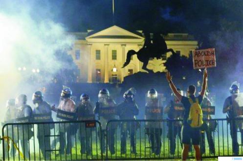 Demo di Gedung Putih, AS. NET