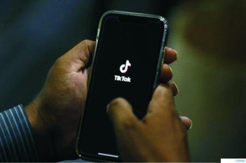 Aplikasi TikTok di smartphone. NET