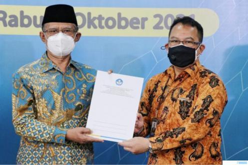 Prof Dr Haedar Nashir dan Plt. Kepala LLDikti Wilayah V DIY, Bhima Widyo Andoko MH. SM